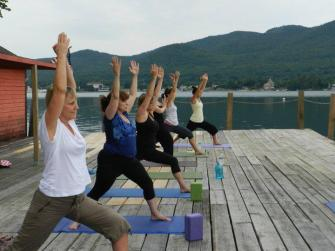Yoga and other classes occur daily