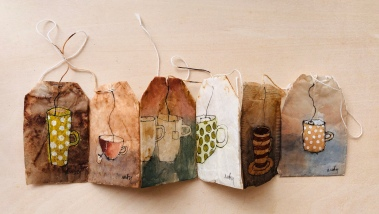 tea bag painting